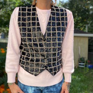 Beautiful vintage 80's sequinned button up vest